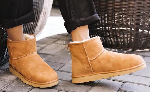 网易严选雪地靴:精选澳洲羊羔皮毛,贴合设计全面保暖