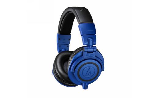 铁三角经典监控级ATH-M50xBB耳机,宝石蓝配色限量版