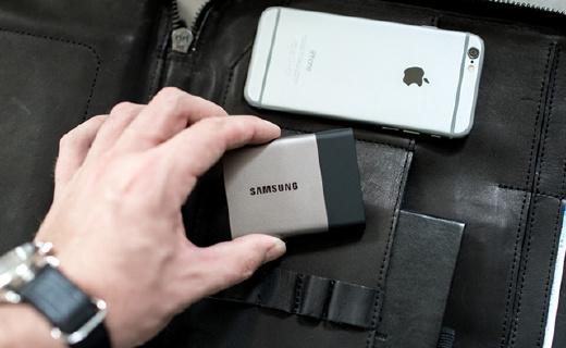 信用卡般大小的三星移动SSD,超快读写速度,比U盘更好用