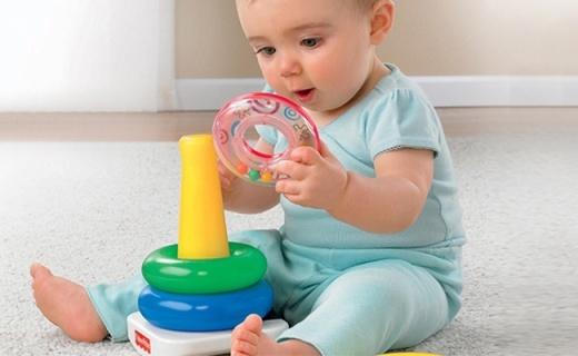 费雪三重奏玩具套装:多种玩法提高认知,培养宝宝手部灵活性
