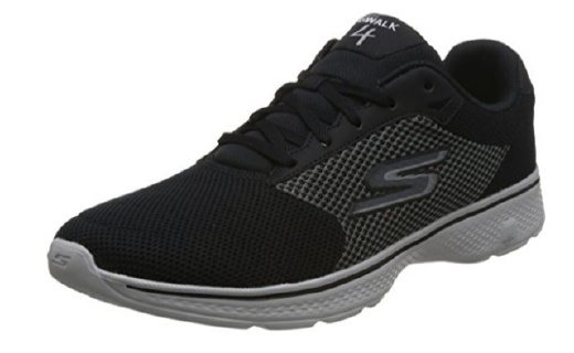 斯凯奇轻质绑带健步鞋:网布拼接材质舒适透气,高回弹设计轻质缓震