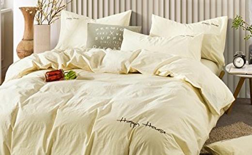 可慕家纺四件套:水洗棉干爽舒适,宁静配色安享睡眠