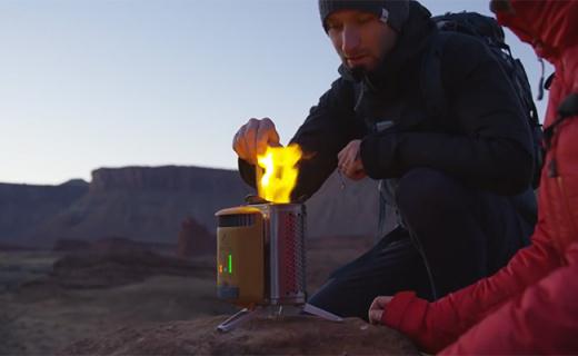 仅保温杯大的户外烤炉,能烧烤还能给手机充电