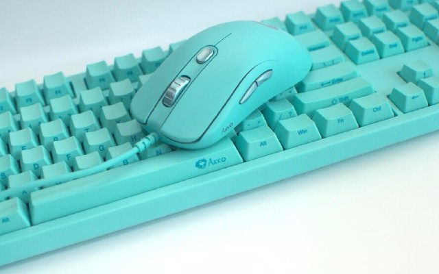 小清新一定喜欢的蒂芙尼绿,Akko3108键盘和AG325鼠标拆解测评