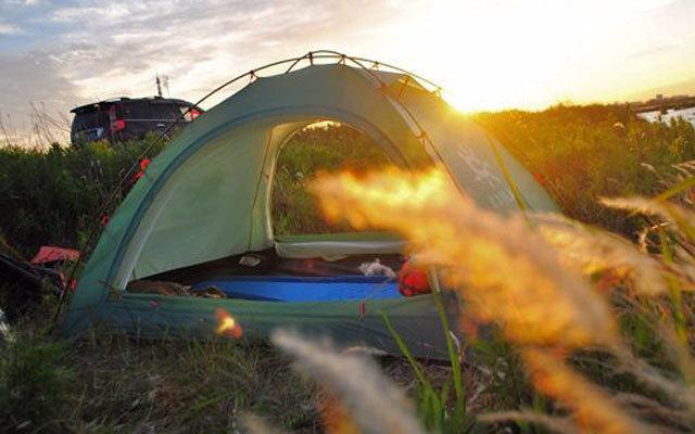 凯乐石四季帐体验,户外露营照样能住飘窗海景房
