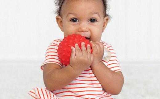 婴智宝纹理球套装:安全无毒材质放心使用,不同纹理开发宝宝触感