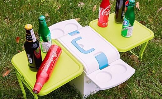 IMOTANI多功能餐桌:冰箱一秒变餐桌,食品级PP材质坚固耐用