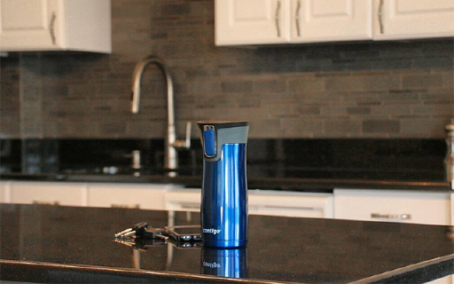 专业密封一百年的Contigo保温杯,单手一键闭合,从此不用拧杯盖就能喝水