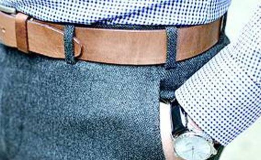 添柏岚Wheat Belt皮带:造型粗犷超耐磨,久弯不易出褶皱