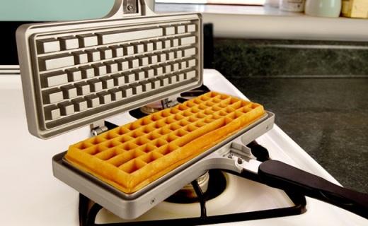有了这个华夫饼神器,从此可以直播吃键盘了
