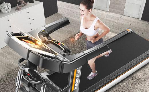 易跑家用多功能跑步机:静音可折叠,可连接WiFi播电影