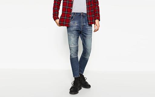 ZARA时装:想和狼叔一样玩机车,先选条像样的牛仔裤吧