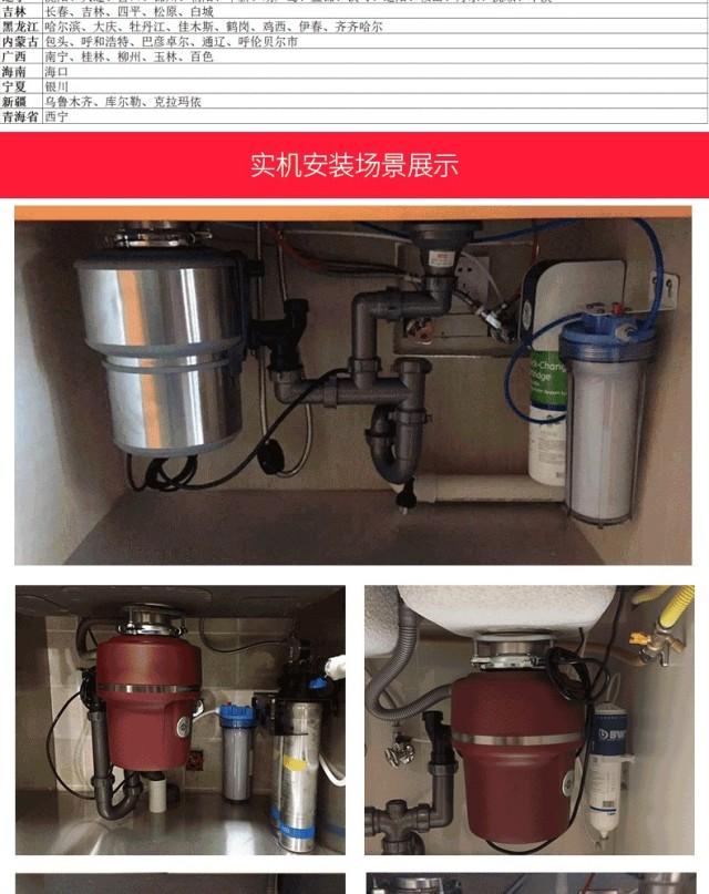爱适易(InSinkErator)E100Red家用食物垃圾处理器