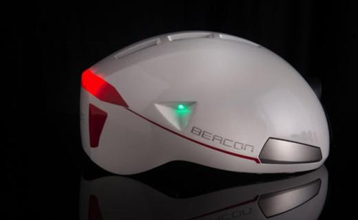 想保证夜骑安全? 试试这顶激光自行车头盔