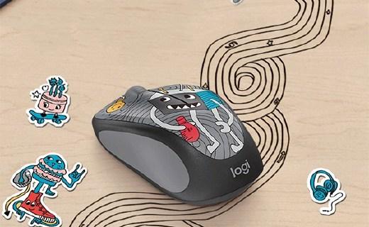罗技M238-V3无线鼠标:卡通外观极具辨识度,反应灵敏携带方便