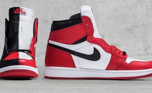 新款Air Jordan 1阴阳脸硬说时尚,禁穿、芝加哥各占半边天