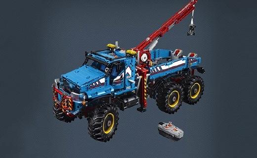乐高山地车玩具:全地形设计仿真外观,双模式高可玩性
