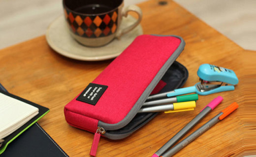 umi帆布铅笔盒:防水阳离子面料结实耐用,大空间收纳超方便