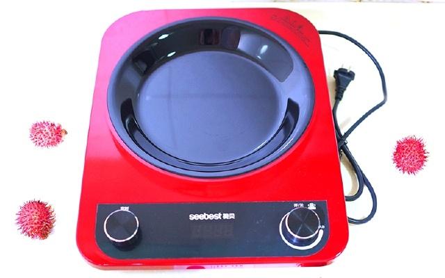 用这个3D凹槽加热的电磁炉,火力更大,炒菜更爽!