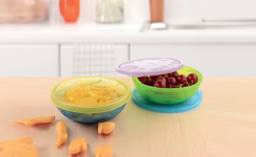 Munchkin零食碗:防漏花瓣形开口,美国品牌质量佳