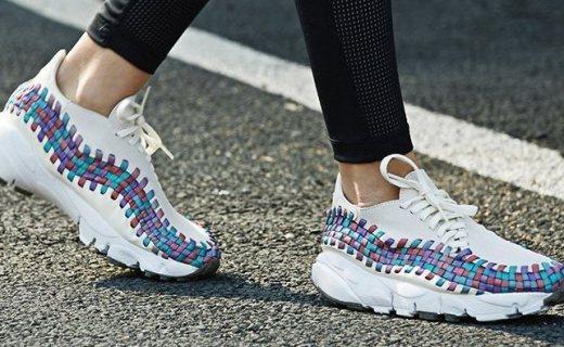 耐克编织休闲运动鞋:WOVEN编织,不对称鞋带时尚个性