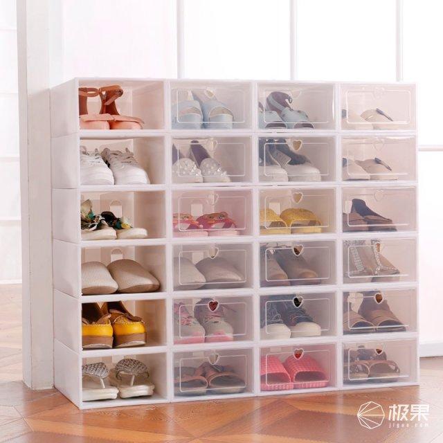 Doruik抽屉式可视塑料鞋盒