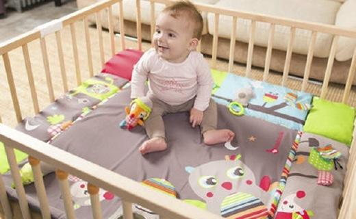 Badabulle多功能婴儿软垫:德国原装进口,可作折叠床使用