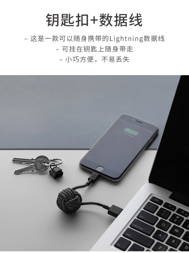 NativeUnionQi无线充电板+数据线