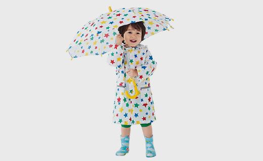 SkipLand儿童雨衣:配荧光带,雨天更安全