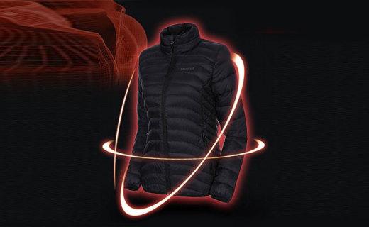 土拨鼠T78370羽绒服:600蓬羽绒填充轻量保暖,防撕裂面料