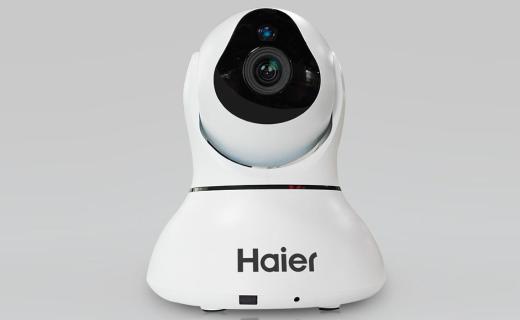 海尔WSC-570W摄像头:双马达多角度旋转,红外夜视双向语音