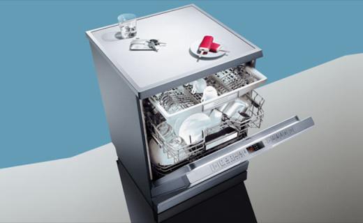 西门子独立式洗碗机:循环高温杀菌,360°全面清洗