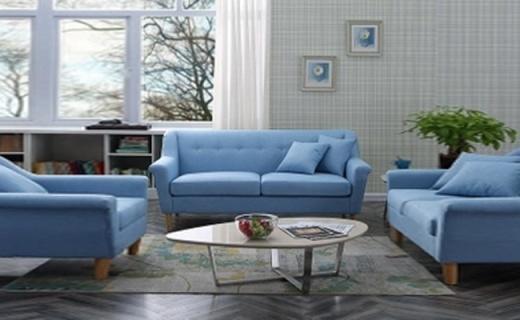 浪漫星布艺沙发:柔软透气棉麻布料,舒适北欧简约风