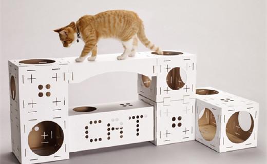 喵星人专属的城堡,还可以自己DIY造型哦