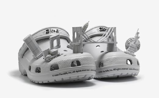 Crocs×Alife 3D打印洞洞鞋,把纽约穿在脚上