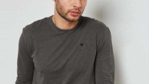 G-STAR男士长袖T恤:纯棉材质亲肤舒适,简约款式利落有型