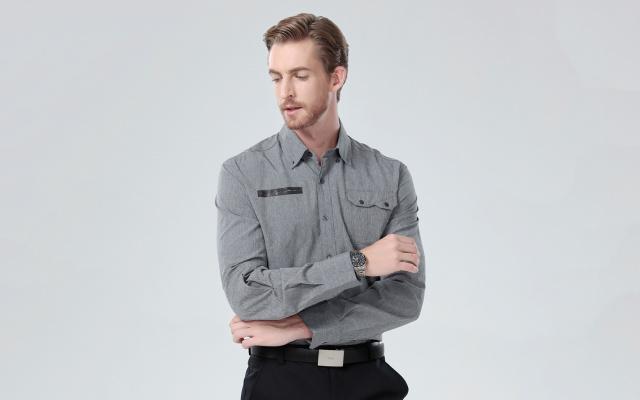 纤维密码商务陶瓷保暖衬衫