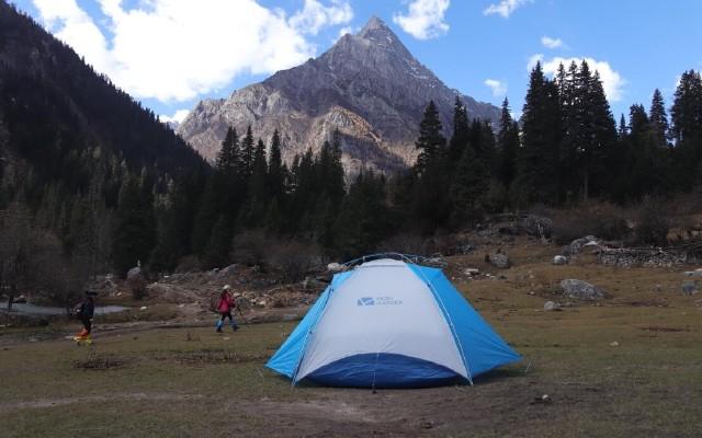 快速搭建 牧高笛冷山UL2双人帐篷