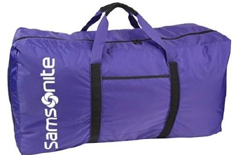 新秀丽大号旅行包:尼龙材质结实耐磨,大容量设计出行无担忧