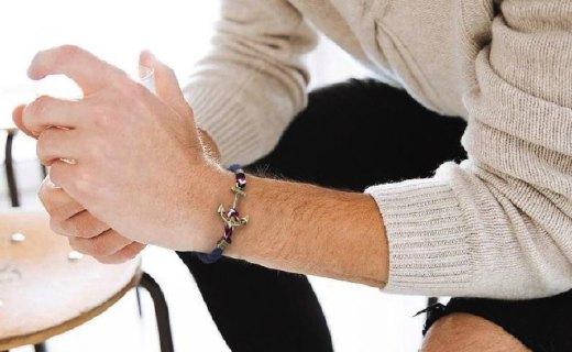 KJP手工编织手链:纯手工编织,浓郁海军风
