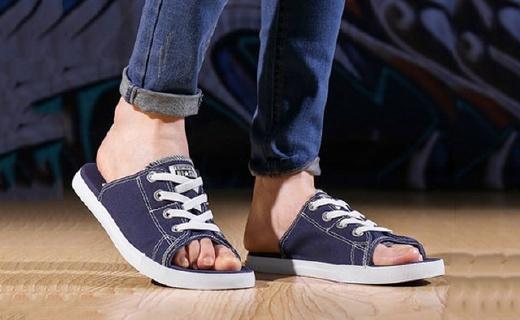匡威帆布拖鞋:混搭造型眼前一亮,舒适凉快出街吸睛