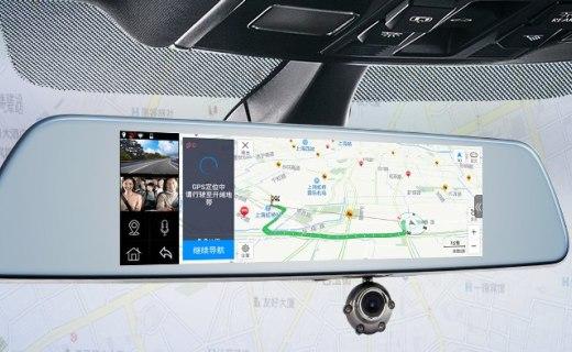 凌度HS810行车记录仪:双镜头全景倒车,电子狗测速功能