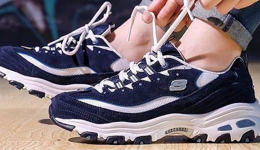 斯凯奇D'LITES复古运动鞋:经典配色灵动设计,EVA中底运动更舒适