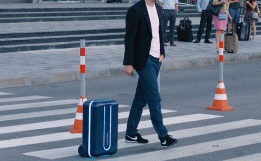 能跟着你走的智能行李箱,解放双手还不会丢