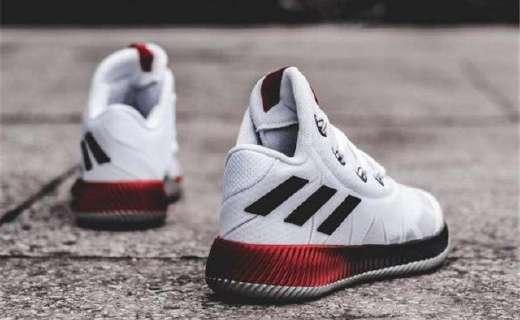阿迪达斯篮球鞋:红黑配色炫酷,高帮设计保护脚踝
