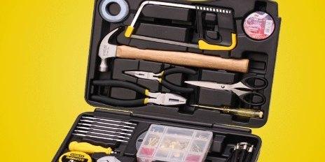 史丹利家用工具组合套装:59种套件工具,满足修理所需