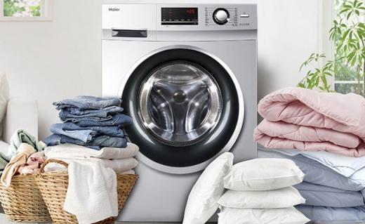海尔10公斤洗衣机:宽水压设计,智能称重节约用水