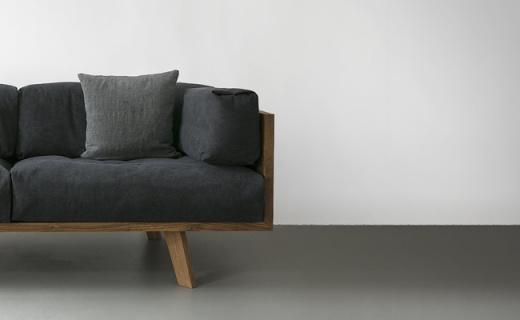 橡木亚麻沙发,羽绒填充,给你拥抱般的感觉