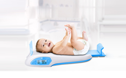 香山iRBaby婴儿秤:可App连接测身高量体重,食品级材质无刺激