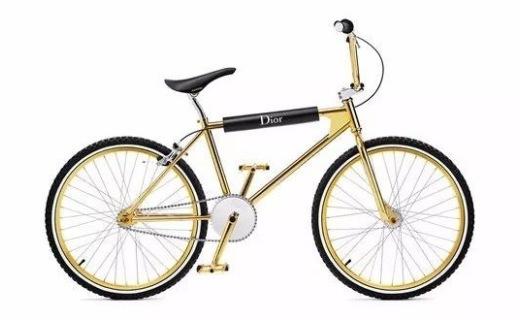 Dior推街头极限自行车,土豪金配色吸睛百分百!